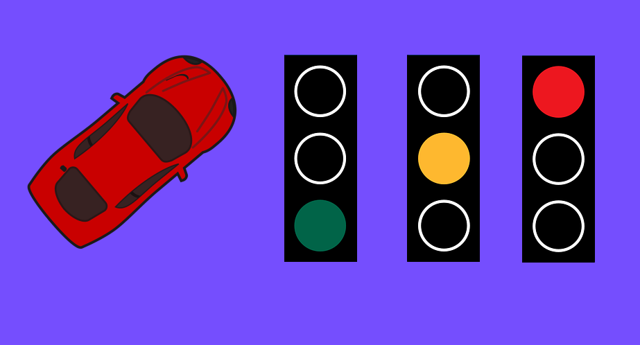 Driving and traffic lights